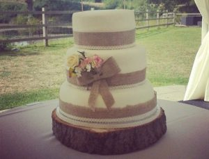Hessian fabrics wedding decoration