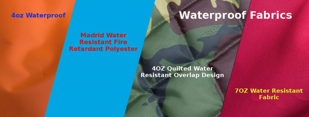 Waterproof and water resistant fabrics