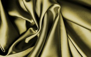 Silk fabric, bright and gold