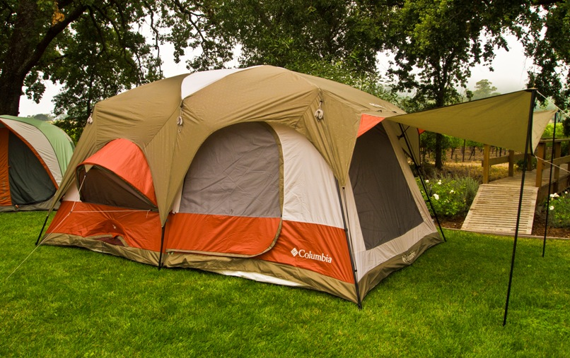 """A large tent made from Waterproof fabrics."