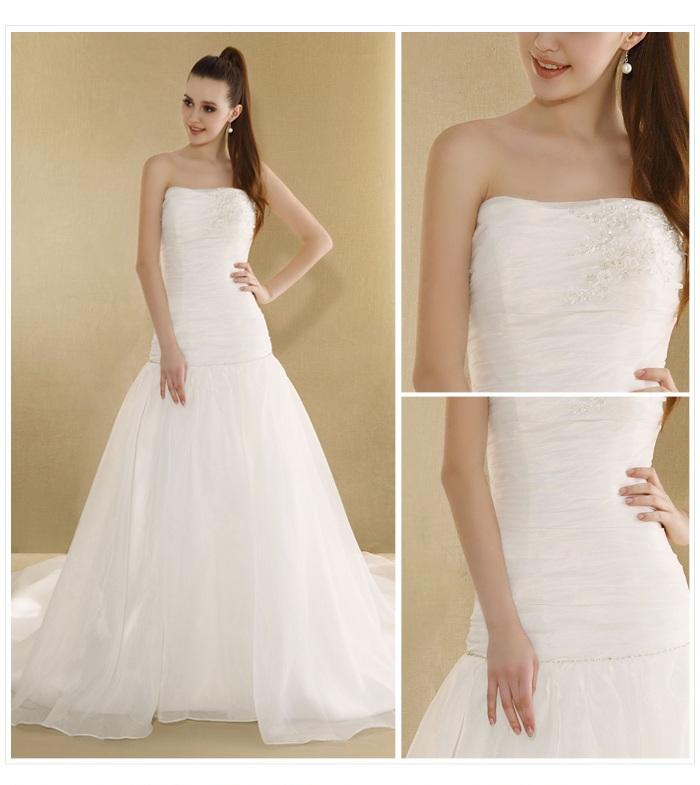 Bridal dress from silk fabric