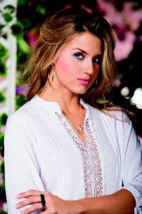 Woman wearing blouse