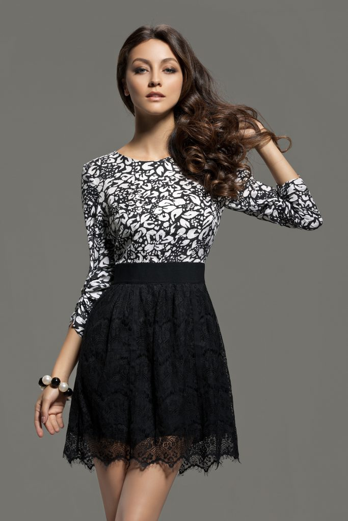 Elegant Women's skirt from Lace Fabric